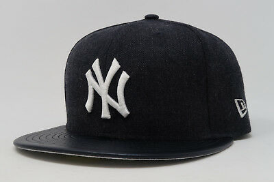 34cc4afefe2 New Era 59Fifty Hat MLB New York Yankees Navy Blue Mens Womens Fitted 5950  Cap