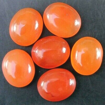 Wholesale Lot 12x10mm Oval Cabochon Natural Carnelian Loose Calibrated Gemstone