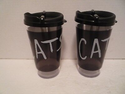 """2 """"Cats"""" on Broadway Travel Cups - NY Broadway show souvenir"""