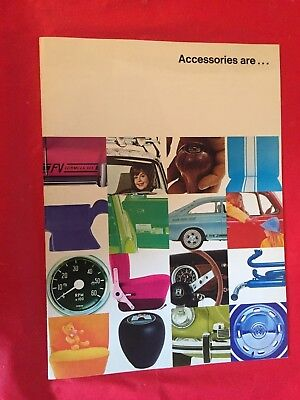"p. 1970 Volkswagen ""Accessories"" Car Dealer Sales Brochure"