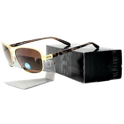 Oakley OO 4116-03 POLARIZED SANCTUARY Gold Brown Gradient Womens Sunglasses .