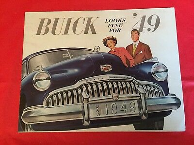 "1949 Buick ""Roadmaster & Super"" Car Dealer Sales Brochure"