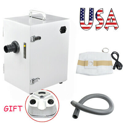 USA Dental Digital Dust Collector Vacuum Cleaner Collecting + Duplicating Flasks