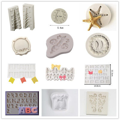 Multi Shapes Silicone Cake Fondant Candy Pastry Chocolate Mould  Cookie Cutter