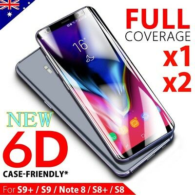 Samsung Galaxy S9+ S8 + Note 8 6D Tempered Glass Full Cover Screen Protector lot