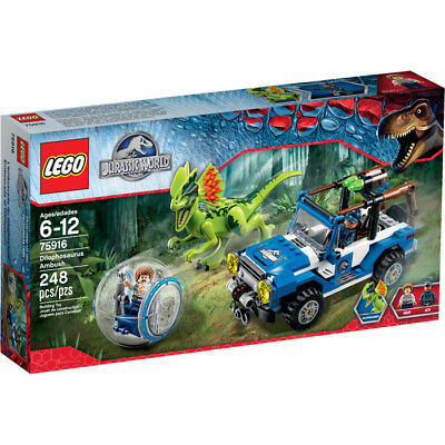 Sealed LEGO Jurassic World 75916 Dilophosaurus Ambush BRAND NEW FREE SHIPPING