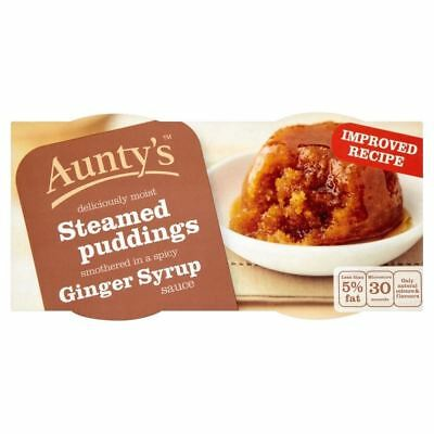 Aunty's Ginger Syrup Steamed Puddings (2x110g) - Pack of 6