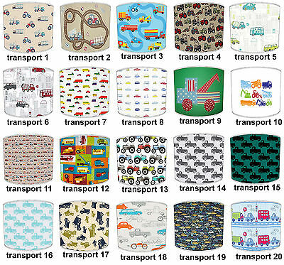 Lampshades Ideal To Match Transport Car Truck Digger Tractor Duvets & Wallpaper.