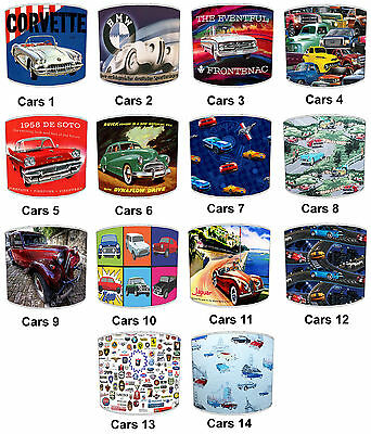 Lampshades Ideal To Match Vintage Cars Cushions, Vintage & Retro Cars Pictures.