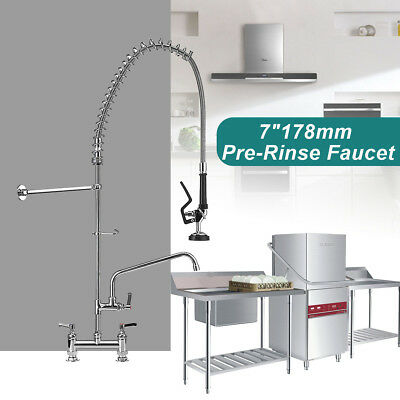 7'' Commercial Pre-Rinse Faucet Spray Swivel with Add-On Faucet Tap Restaurant