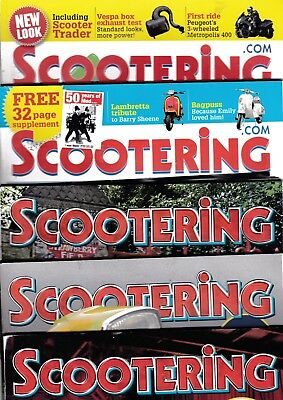 Various Issues of SCOOTERING Magazine from January 2010 to August 2014