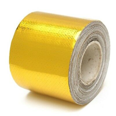 5M X 50MM GOLD High Temperature Heat Tape Reflective Exhaust Wrap Bay Race Track