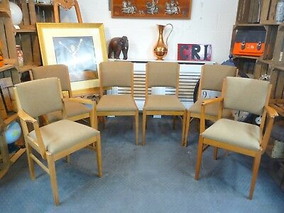 Gordon Russell Of Broadway Dining Chairs / Board Room Chairs Set Of Six