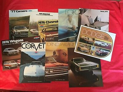 LOT 10 Ford Chevrolet Dodge Buick Chrysler Car Dealer Sales Brochures Charger