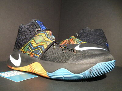 Nike Kyrie Ii 2 Bhm Black History Month Multi-Color Blue Red White 828375- 5427fb0fe2ab