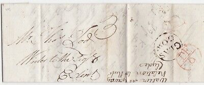 # 1788 GLASGOW CIRC PMK & BISHOPMARK Wm McAULAY LETTER TO THOMAS TOD EDINBURGH