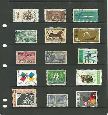 Europe Poland Three  stock sheets mix collection stamps
