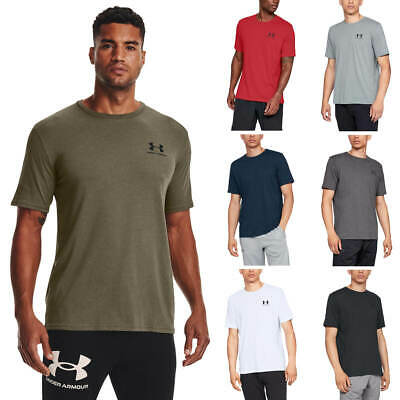 Under Armour Mens 2019 Sportstyle Left Chest UA Logo Charged Cotton T-Shirt
