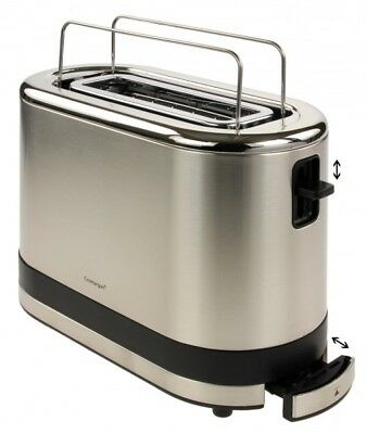 WMF KÜCHENminis Toaster Single Toaster 600 Watt 414100011, Cromargan Matt
