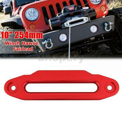"10"" 16800lbs Hawse Fairlead For Winch Synthetic Rope Guide 4x4 Offroad Recovery"