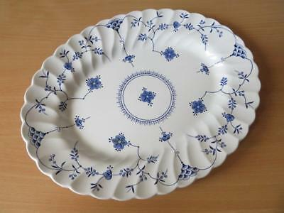 "Blue & White Myott Finlandia 12"" Oval Steak Plate Or Platter"