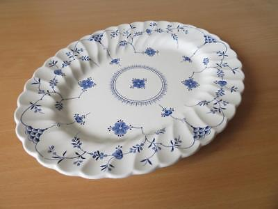 "BLUE & WHITE MYOTT FINLANDIA 12"" OVAL PLATTER or STEAK PLATE V.G.COND"