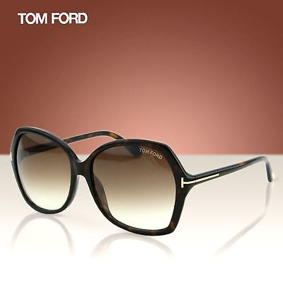 15d7074bb68e Tom Ford Carola FT0328 52F Women Havana Brown Over-sized Soft Square  Sunglasses