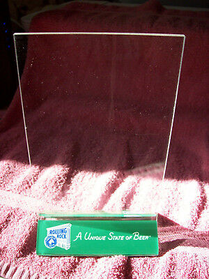 Lot of 6 Rolling Rock Beer Plastic Advertising Table Tents NOS 1998