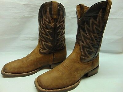 4e32c539781 ARIAT CHALLENGER BRANDING Iron Brown Leather Square Toe Mens 10 D Western  Boots