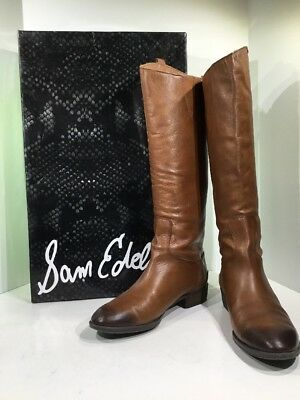 937f81ea1fb6e Sam Edelman Penny Womens Sz 8 W Whiskey Lea Knee High Riding Boots Shoes ZQ-