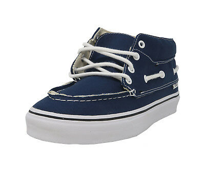 6fe3168def VANS Chukka Del Barco Navy Blue White Mid Top Lace Up Sneakers Casual Men  Shoes