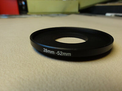 New 28mm to 52mm Step Up Lens Filter Ring Metal DSLR SLR Digital Camera Adapter