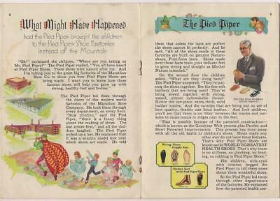 Vintage Pied Piper Shoes Childrens Illustrated Story Book Advertising Brochure