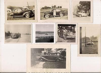 Lot 11 Vintage 1930s-'40s Antique Cars Automobiles Vehicles Truck People Photos