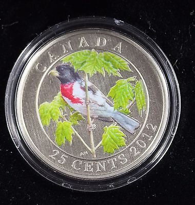 **2012** Rose-Breasted Grosbeak, $.25 Cent Coin