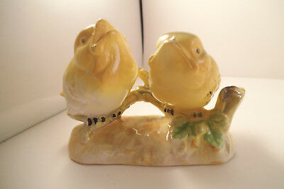 Vintage Made in Japan Pair of Yellow Birds Figurine Figure