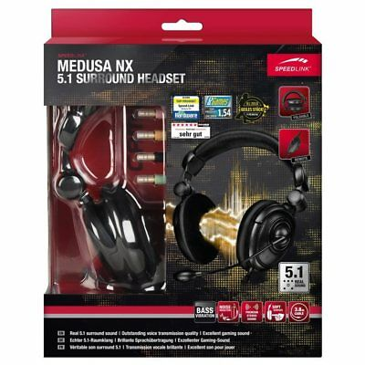 Speedlink Medusa NX 5.1 Surround PC Gaming Headset Gamer Kopfhörer Over-Ear