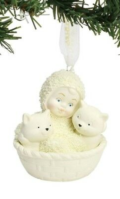 Dept 56 Snowbabies Basket of Kittens Ornament #6001988 BRAND NEW 2018 Free Ship