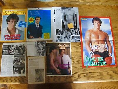 Sylvester Stallone Rare French Clippings,poster