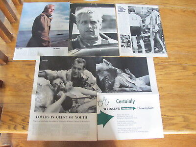Paul Newman Rare French Us Clippings