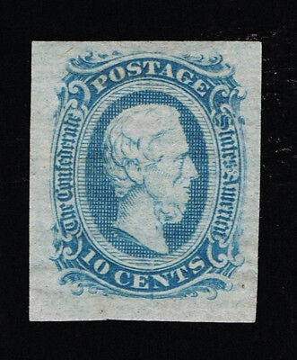 GENUINE CONFEDERATE CSA SCOTT #11a MINT NG DIE-A MILKY BLUE ARCHER DALY PRINTING