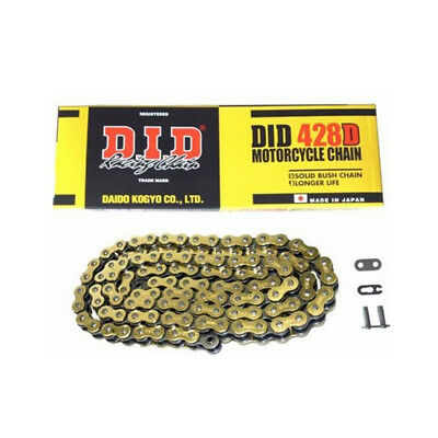 DID 428Dx118 Gold/Black Motorcycle Chain for Honda CBF 125 09-15