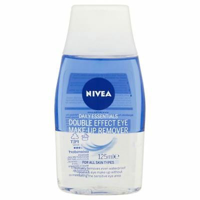 Nivea Daily Essentials Double Effect Eye Make Up Remover (125ml) - Pack of 6