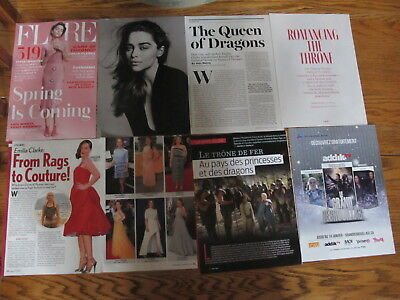 The Game Of Thrones,emilia Clarke French Us Clippings
