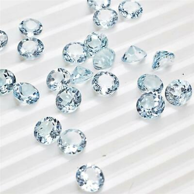 Wholesale Lot 7x7mm Round Facet Cut Natural Blue Topaz Loose Calibrated Gemstone