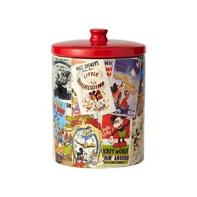 Disney Classic Mickey Mouse Movie Posters Ceramic Kitchen Cookie Jar 6001022 New