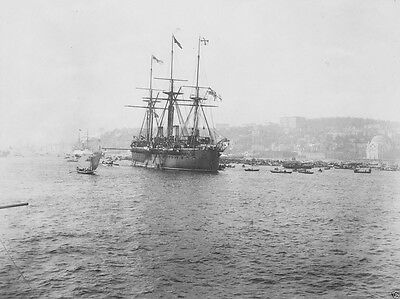 New 8x10 World War I WW1 Photo - SMS Kaiser ironclad warship in Istanbul 1889