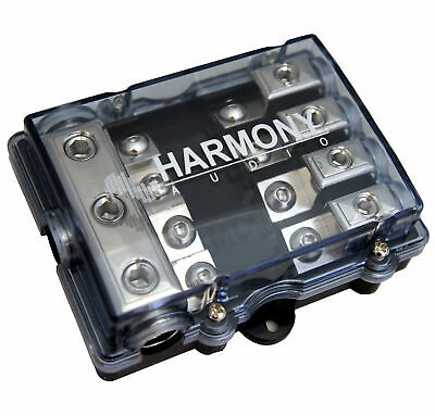 Harmony Audio HA-MIDIFD4 Car 4-Way Mini ANL MIDI Fused Distribution Block - New