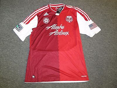 best service 5a23e 166f8 ADIDAS PORTLAND TIMBERS MLS Authentic Jersey Men's XL Red Rose Alternate NEW