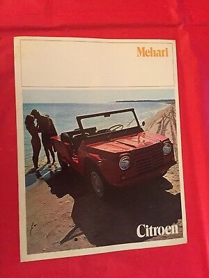 "p 1970 Citroen ""Mehari"" Car Dealer Sales Brochure"